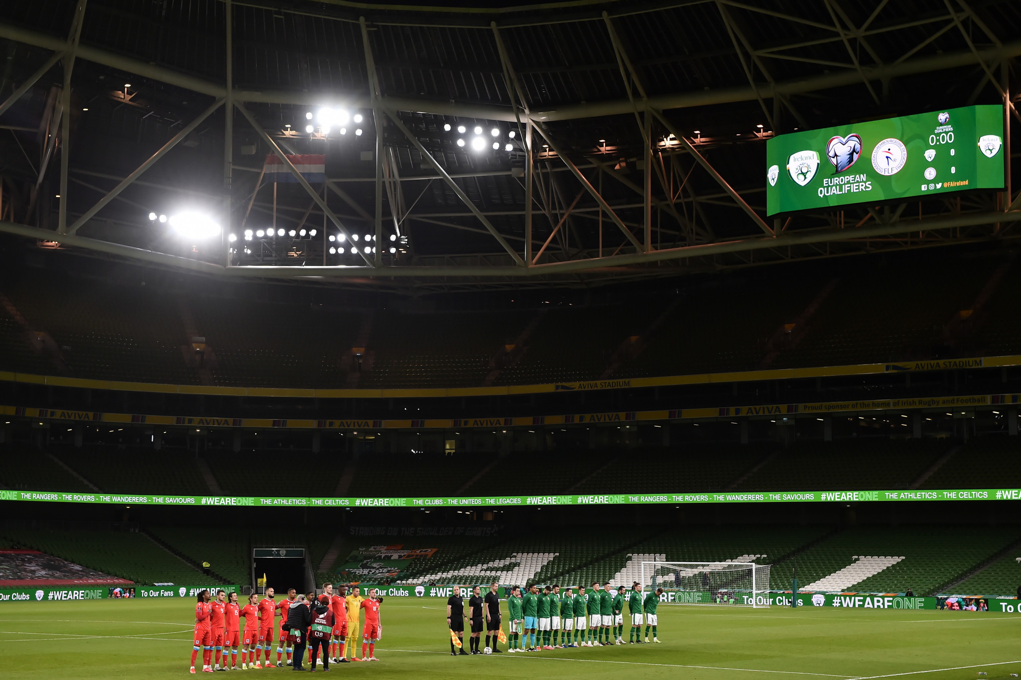 Dublin's Aviva Stadium faces being axed from the list of Euro 2020 host cities ©Getty Images
