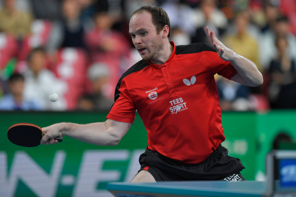 Britain's Paul Drinkhall, the fifth seed, moved through from his group with three wins from three at the ITTF European Olympic Qualifier in Portugal ©Getty Images