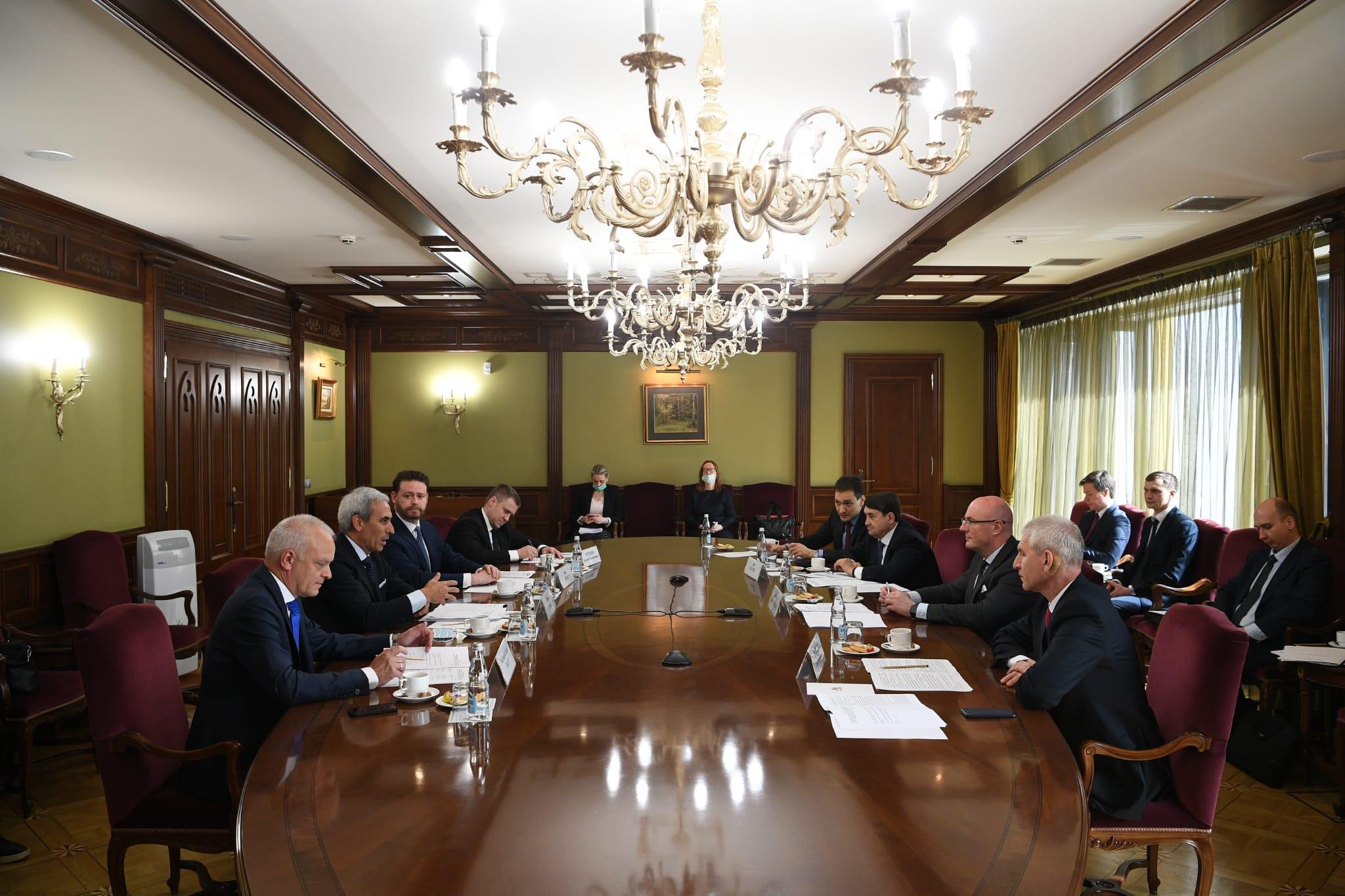 Высокопоставленные российские деятели встретились с представителями СпортАккорда, чтобы обсудить подготовку к мероприятию © SportAccord
