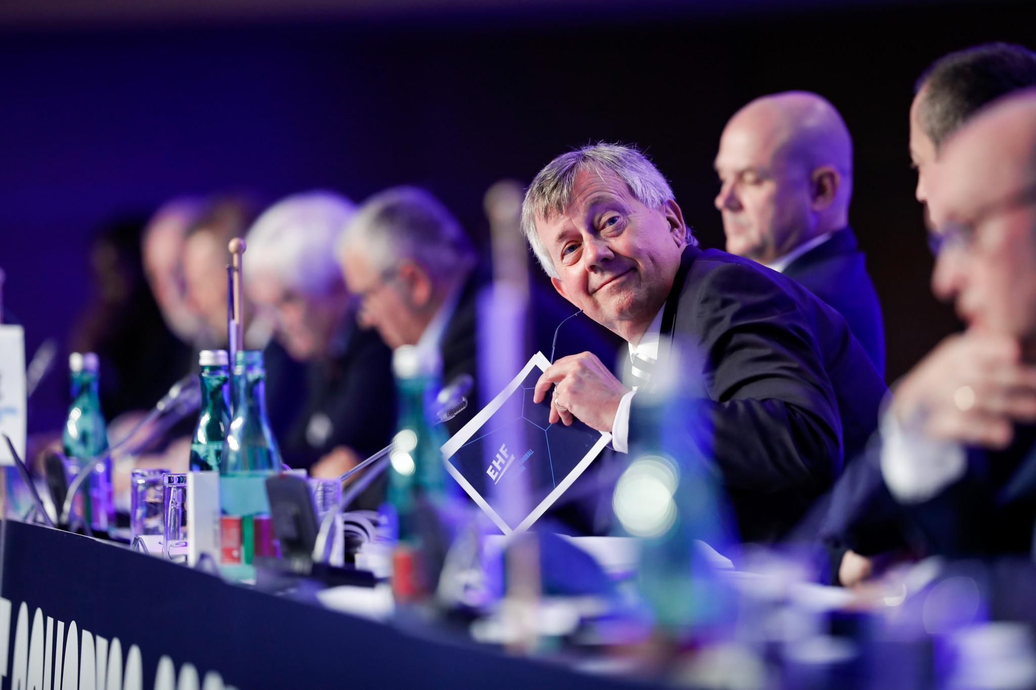 Michael Wiederer became EHF President in 2016 after serving as secretary general since 1992 ©Uros Hocevar / Kolektiffimages