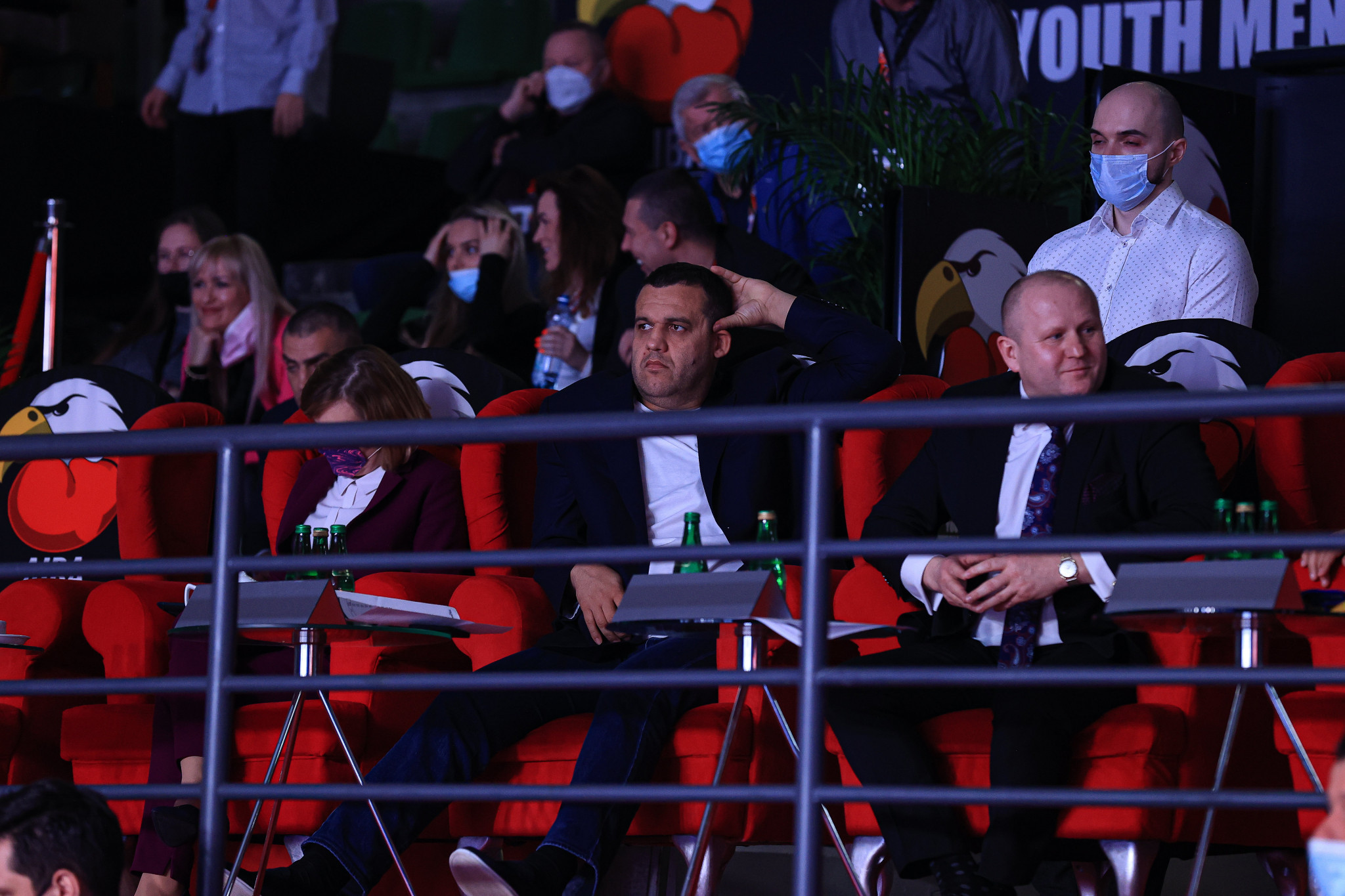 AIBA President Umar Kremlev, centre, observes proceedings on the final day of the AIBA Youth World Championships ©AIBA