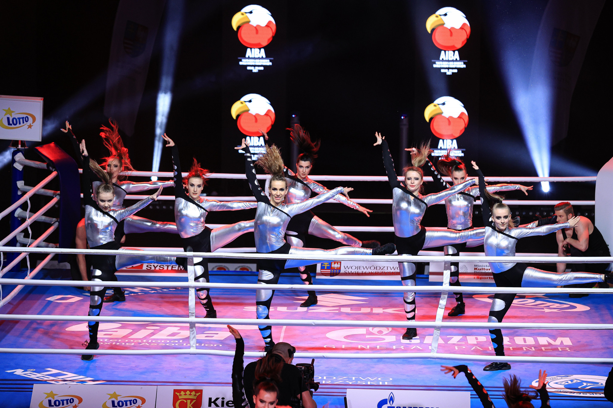 A dance display took place in the ring before the fights took place in Kielce ©AIBA
