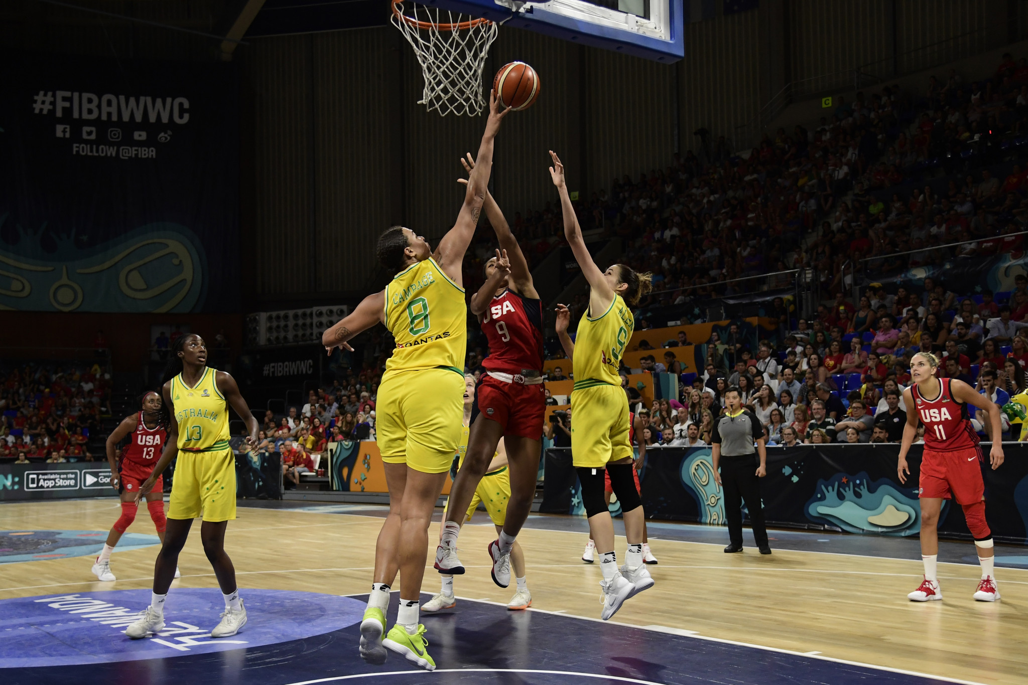 Crittle and Landon complete 2022 Women's Basketball World Cup Organising Committee