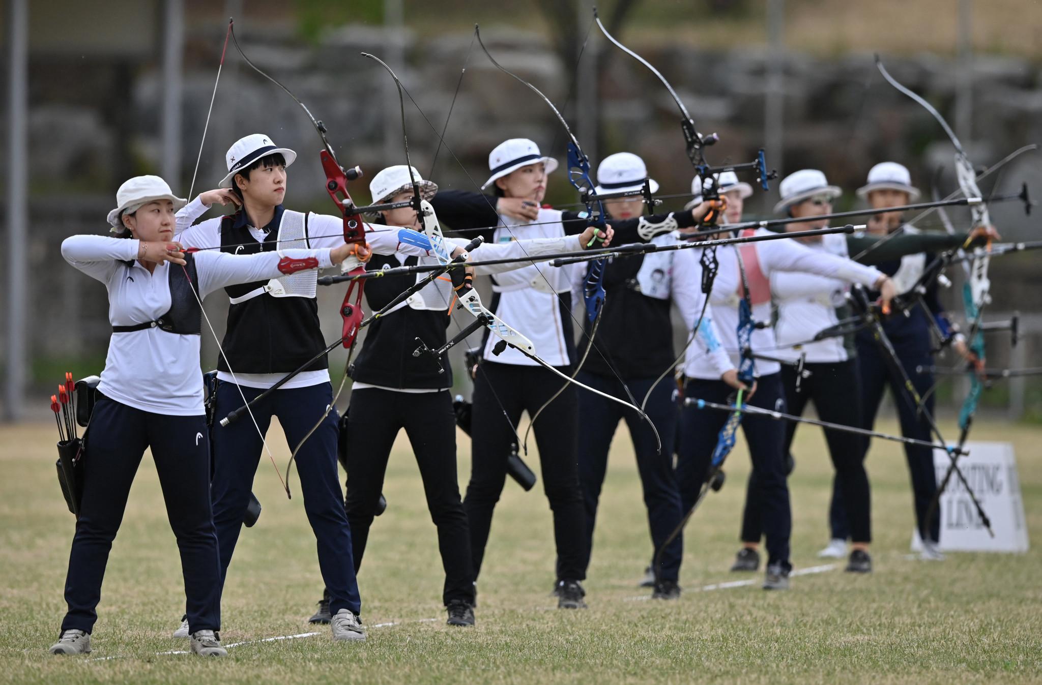 늦은 올림픽 한국 양궁 팀을 결정하기위한 시험이 실시되었습니다 © GettyImages