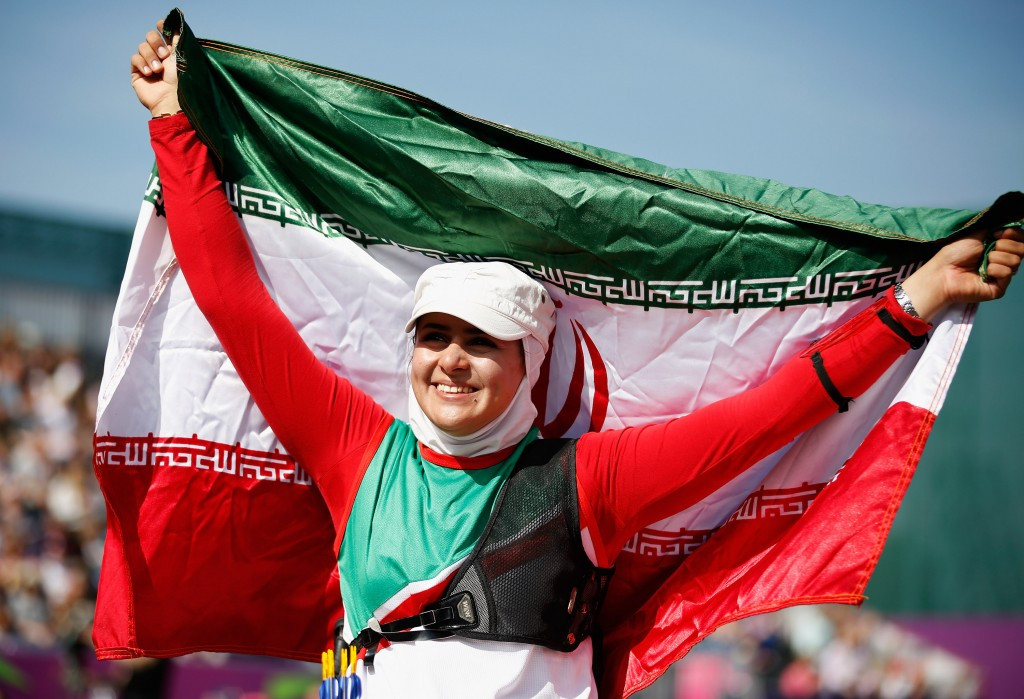 Zahra Nemati has been chosen to carry Iran's flag at the Opening Ceremony of this Olympic Games in Rio de Janeiro ©Getty Images