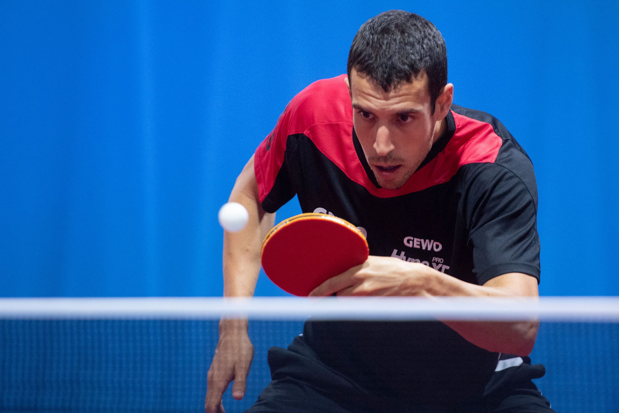 Alvaro Robles of Spain qualified for Tokyo 2020 after winning his last four match at the ITTF European Olympic Singles Qualification Tournament ©Getty Images