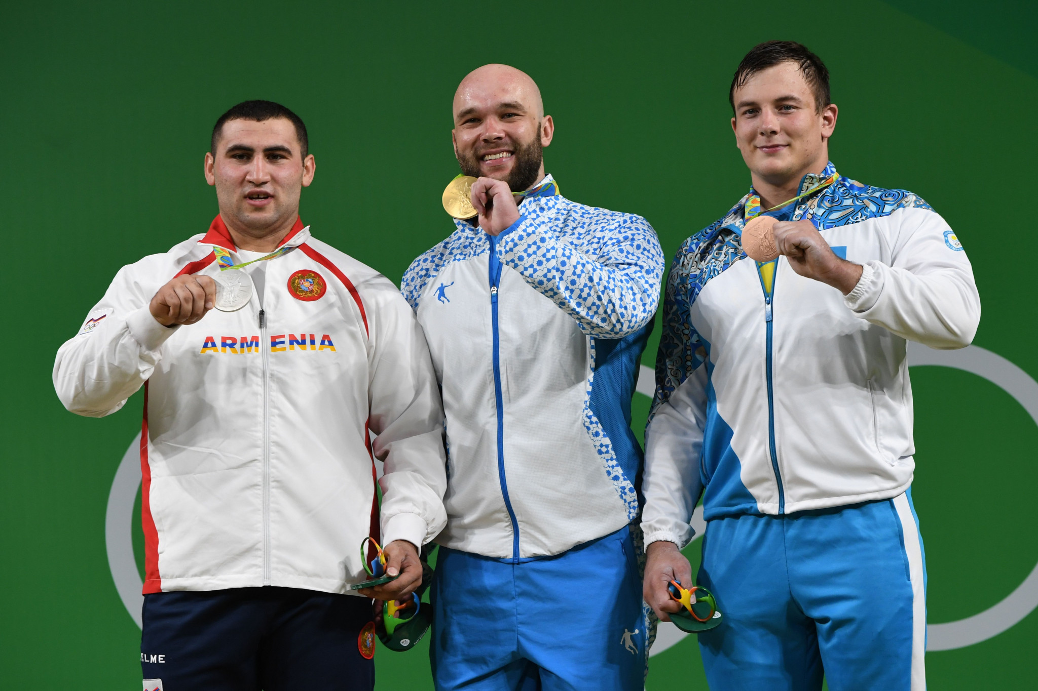 Simon Martirosyan, left, won a silver medal at the Rio 2016 Olympics ©Getty Images