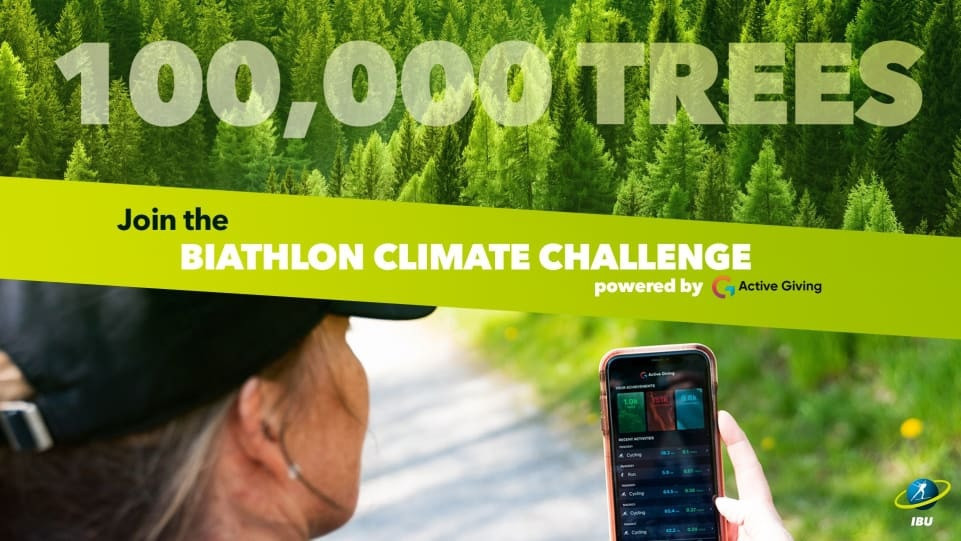 The International Biathlon Union hopes to help plant 100,000 trees courtesy of its Biathlon Climate Challenge ©IBU