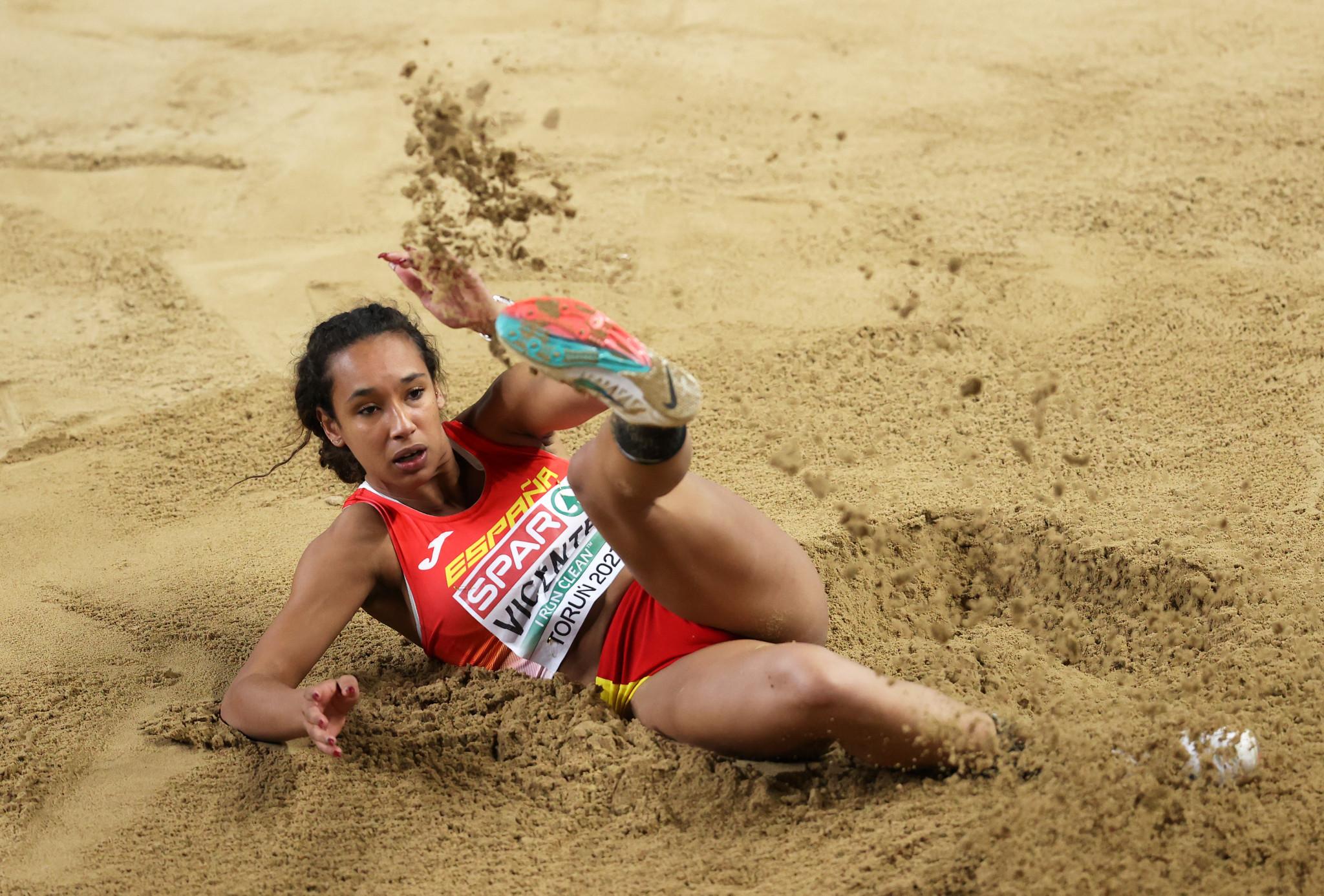 Maria Vicente vant syvkamptittelen på Lana © Getty Images fra syvende plass