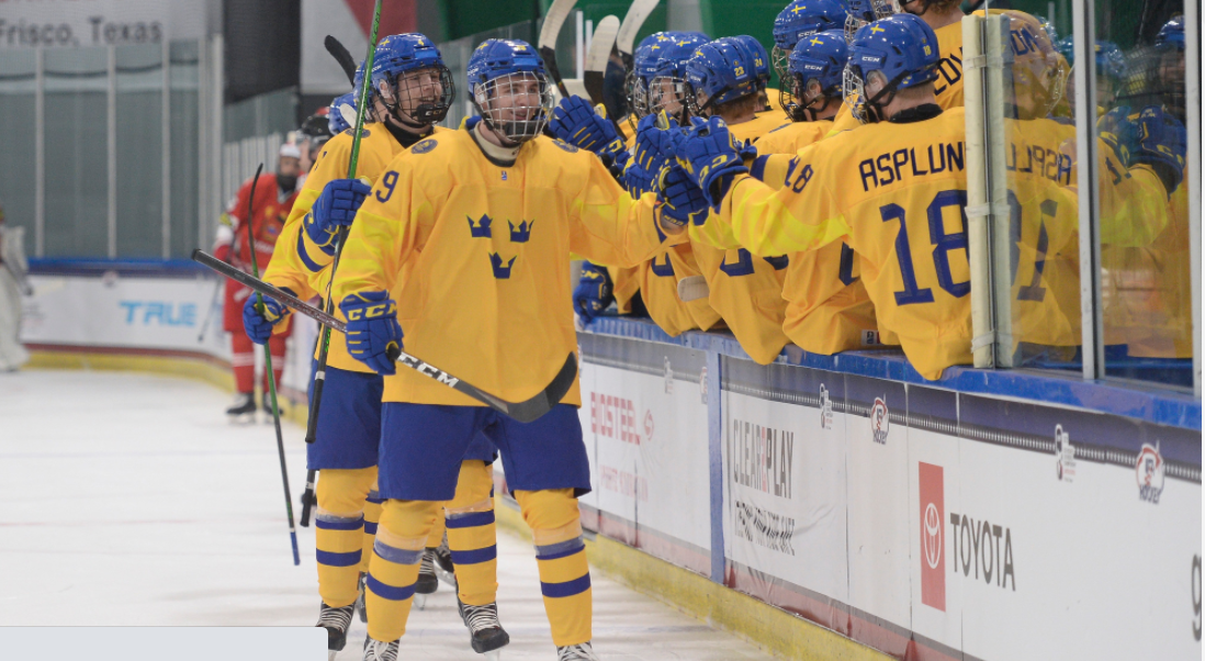 Defending champions Sweden beat Belarus 5-1 in their opening match at the IIHF under-18 World Championship at the Children's Health StarCenter in Plano ©IIHF