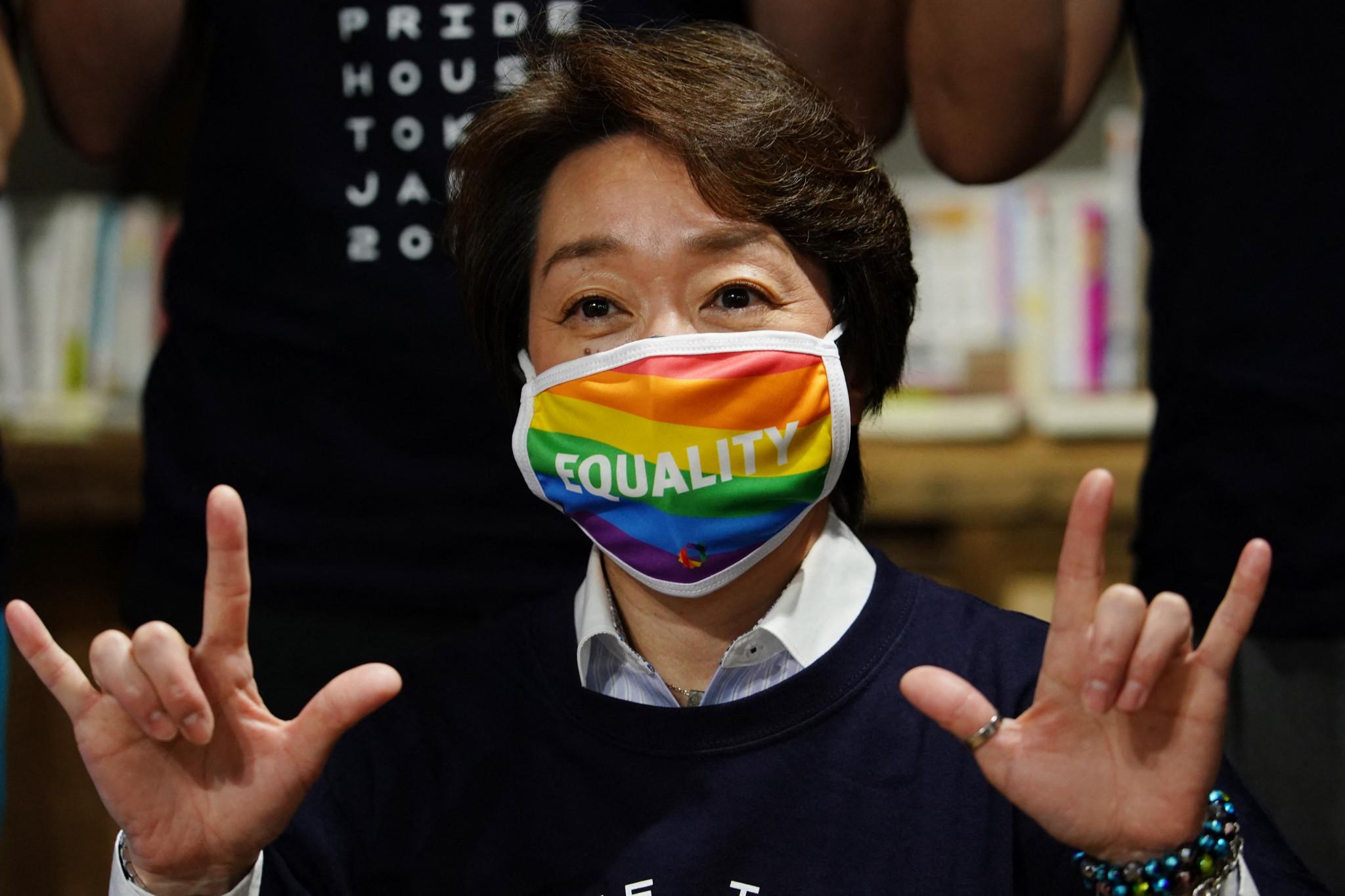 Tokyo 2020 President Hashimoto visits Pride House Tokyo amid calls for equality legislation to form Olympic legacy