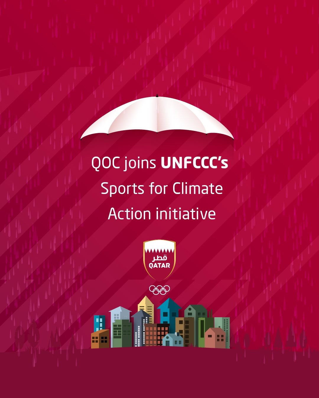 The Qatar Olympic Committee has joined the United Nations Framework Convention on Climate Change's Sports for Climate Action initiative ©QOC