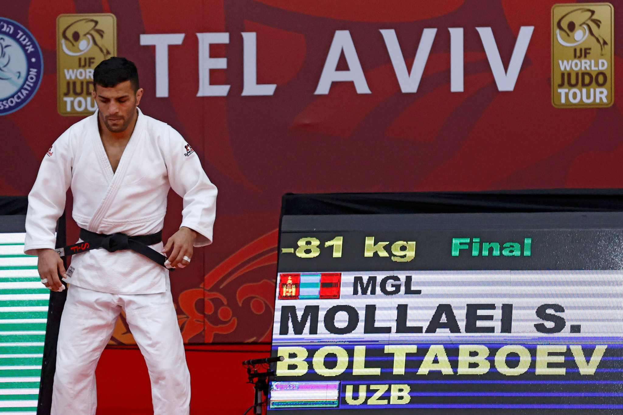 Saeid Mollaei claimed a silver medal on his first appearance for Mongolia in the IJF Tel Aviv Grand Slam in February ©Getty Images