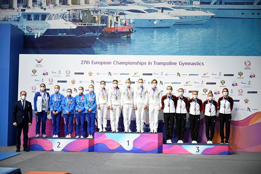 Hosts Russia impress on opening day of European Gymnastics Trampoline Championships