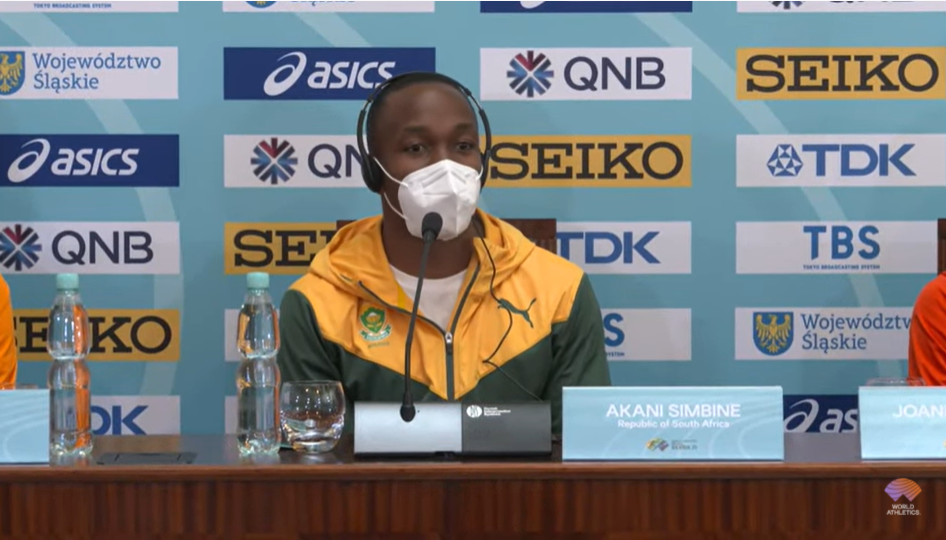 The South African team including Commonwealth 100m champion Akani Simbine took more than 30 hours to travel to the event in Poland ©World Athletics