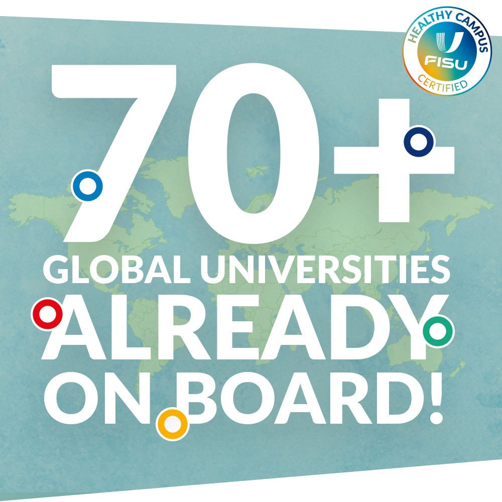 Over 70 universities signed up to FISU Healthy Campus programme