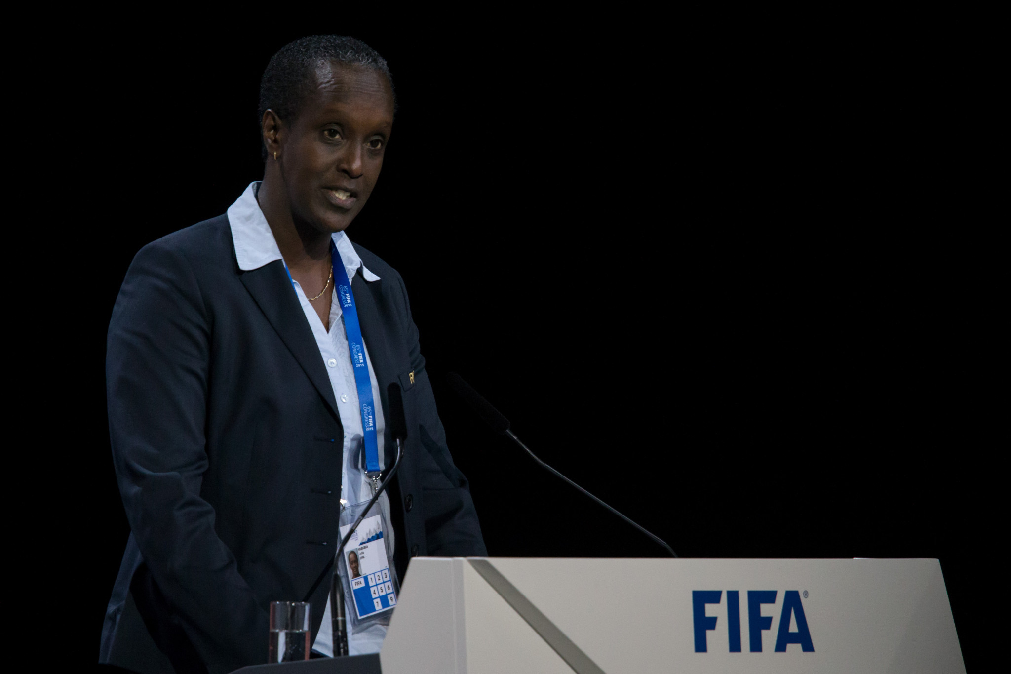 Lydia Nsekera has held roles at FIFA and the IOC internationally ©Getty Images