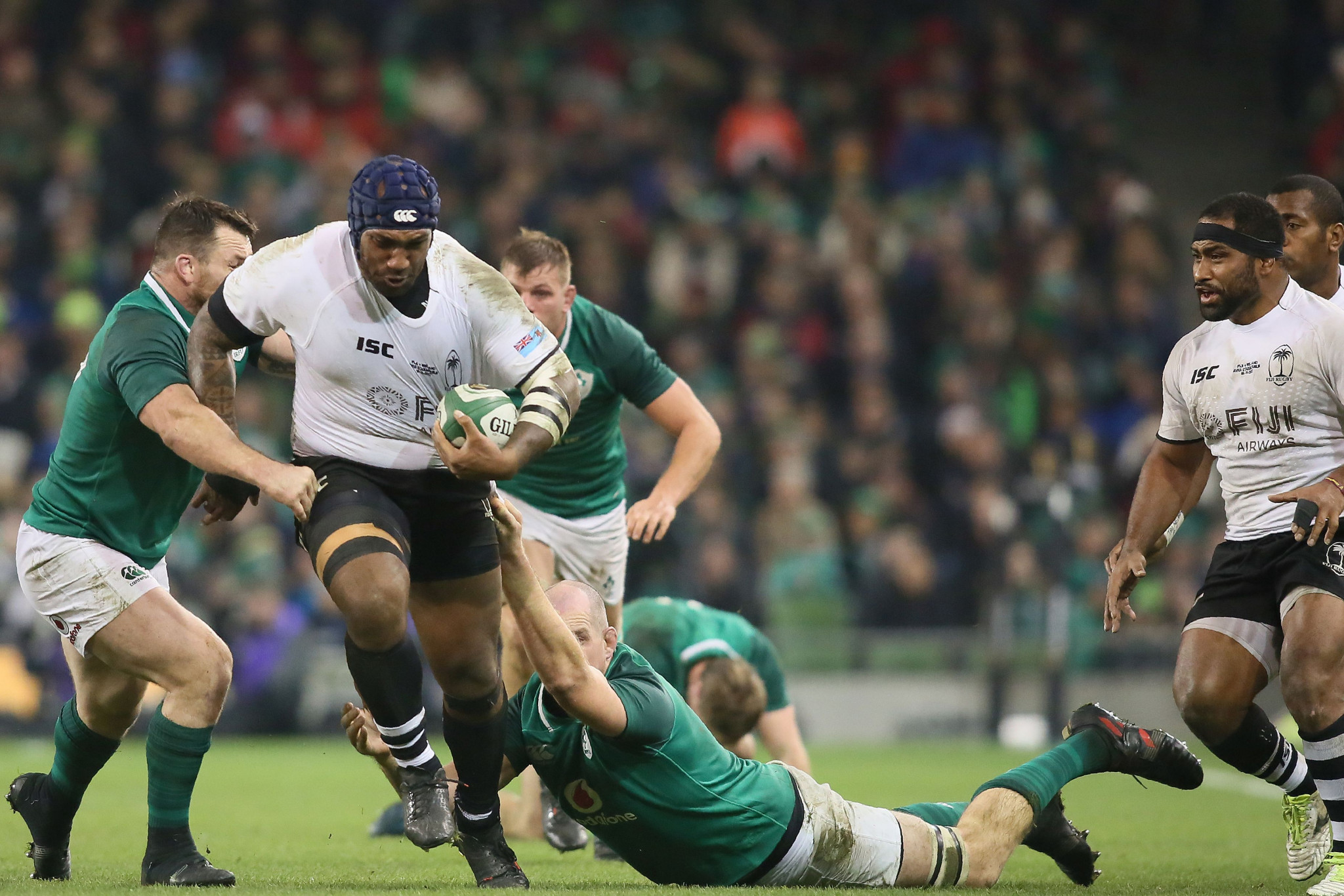 Fiji last faced Ireland in 2017 when they suffered a 23-20 defeat at the Aviva Stadium in Dublin ©Getty Images