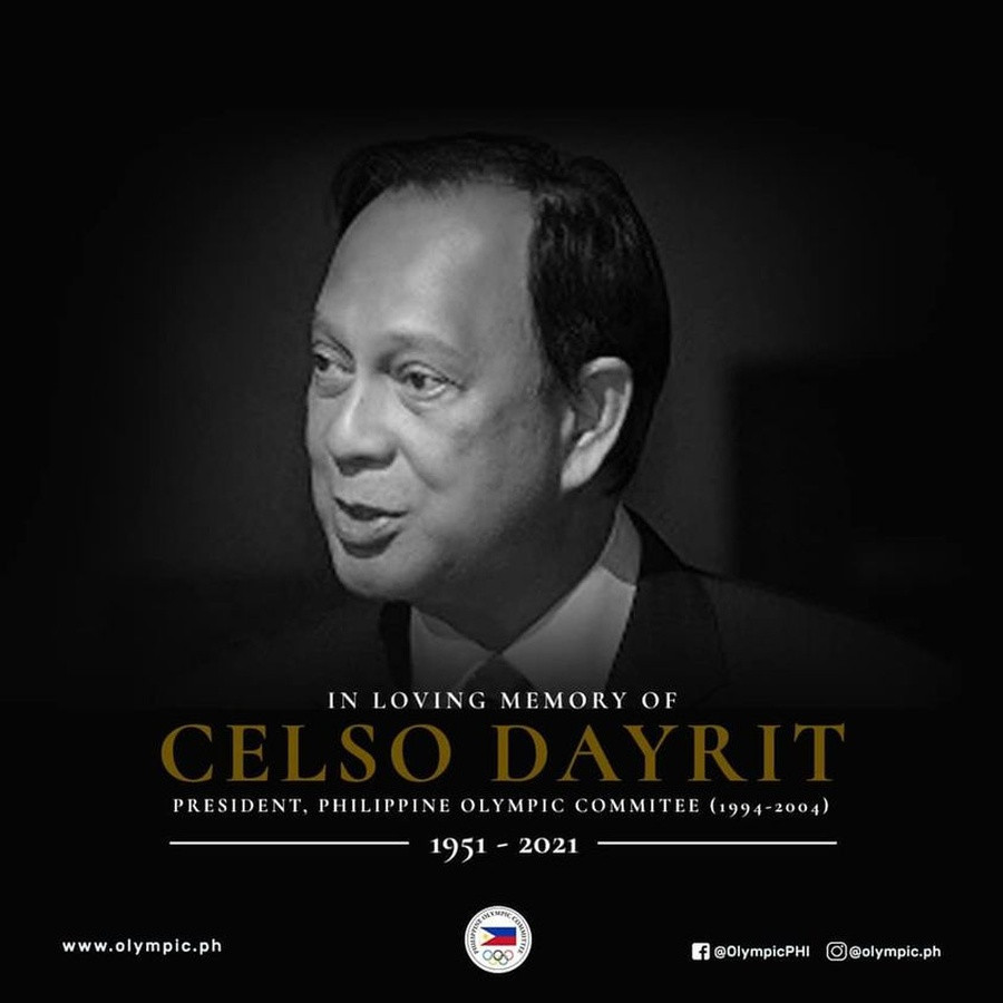 Celso Dayrit has died at the age of 70 ©POC