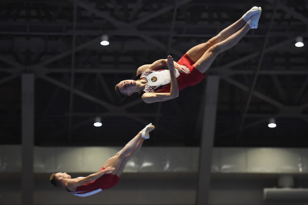 Olympic champion beaten by teammate as Russia dominate final day at European Gymnastics Trampoline Championships