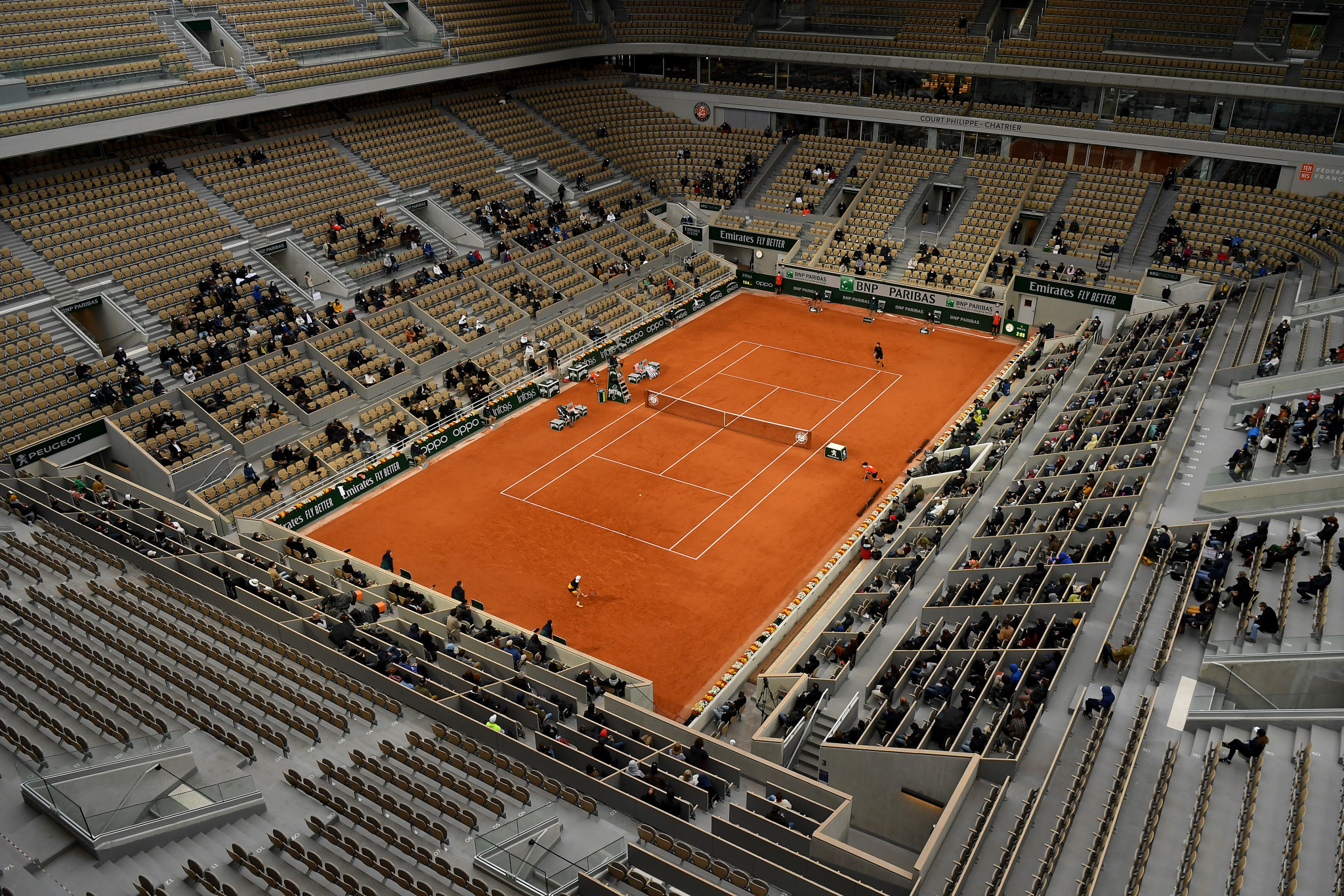 French Sports Minister Jean-Michel Blanquer has announced that the fan capacity at this year's French Open will be limited to 35 per cent for the first 10 days ©Getty Images