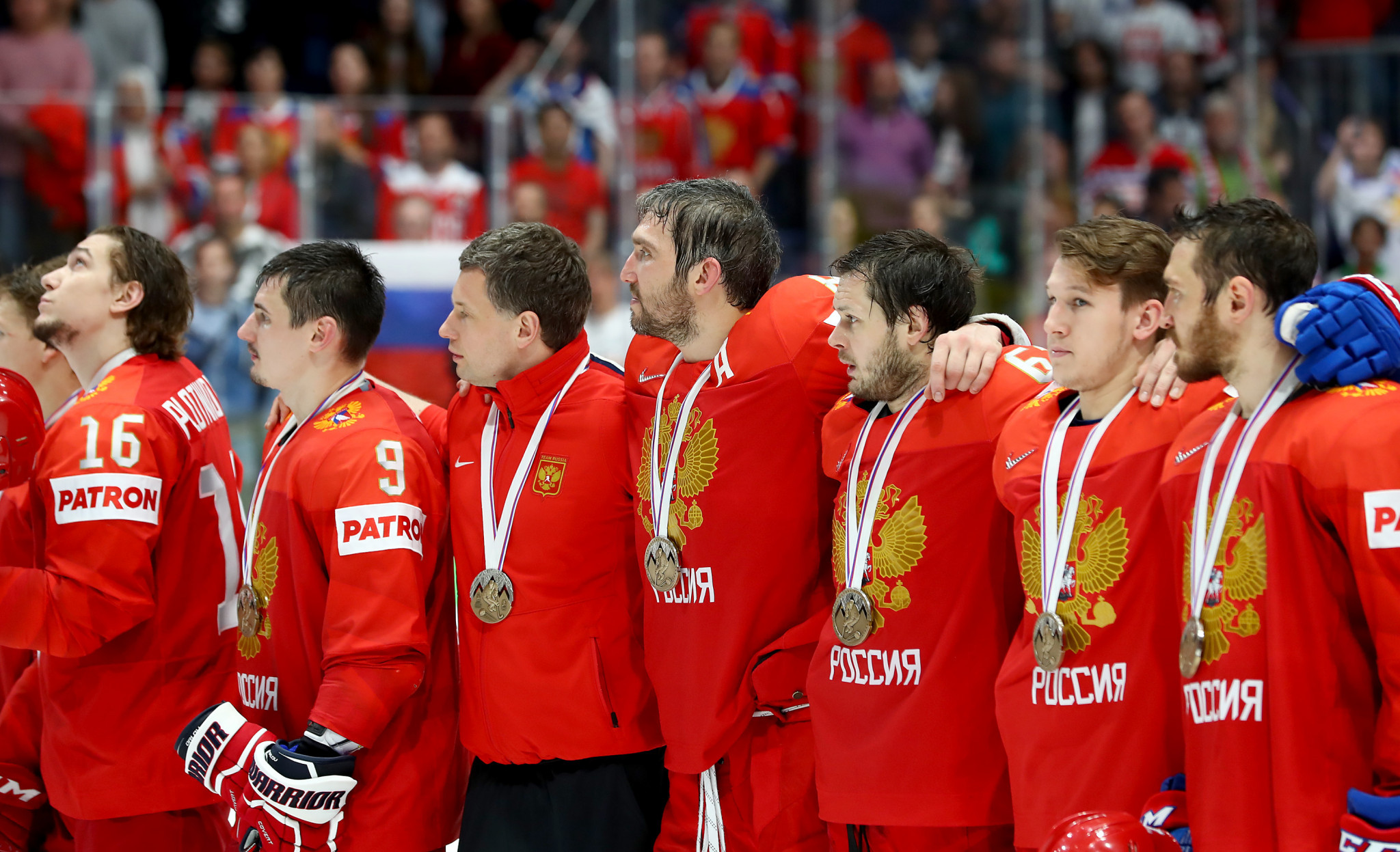 The name Russia and Russian symbols are prohibited on kit for the World Championships and Winter Olympics ©Getty Images