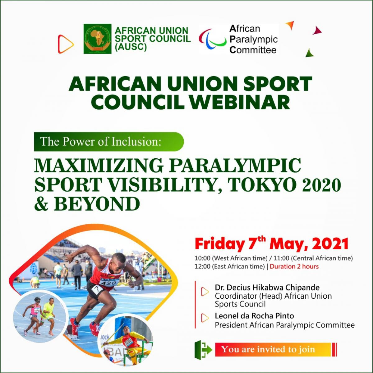 The webinar is being jointly organised by the African Paralympic Committee and African Union Sport Council ©APC