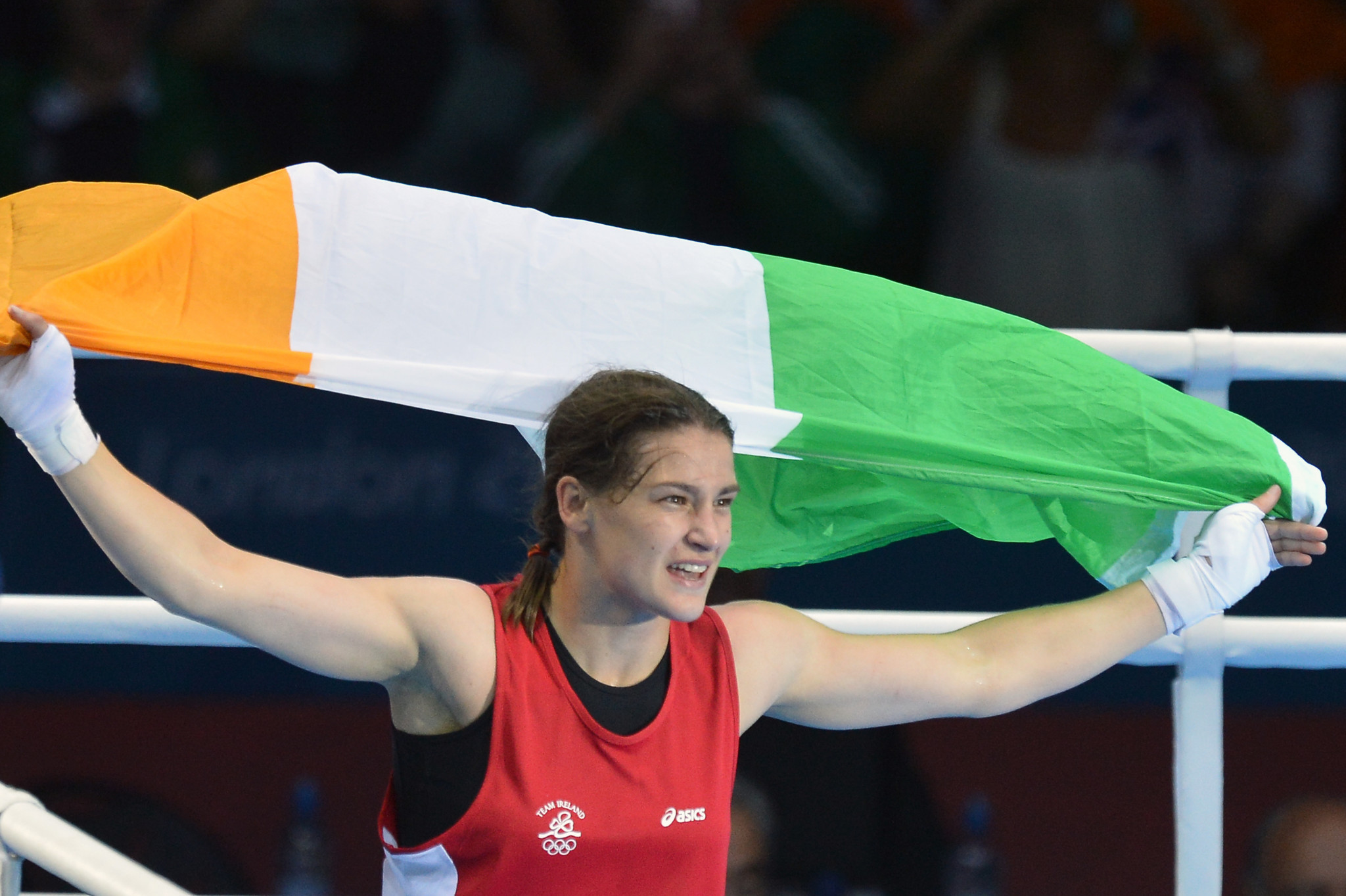 Katie Taylor, an Olympic gold medallist at London 2012, remains unbeaten in the professional ranks ©Getty Images