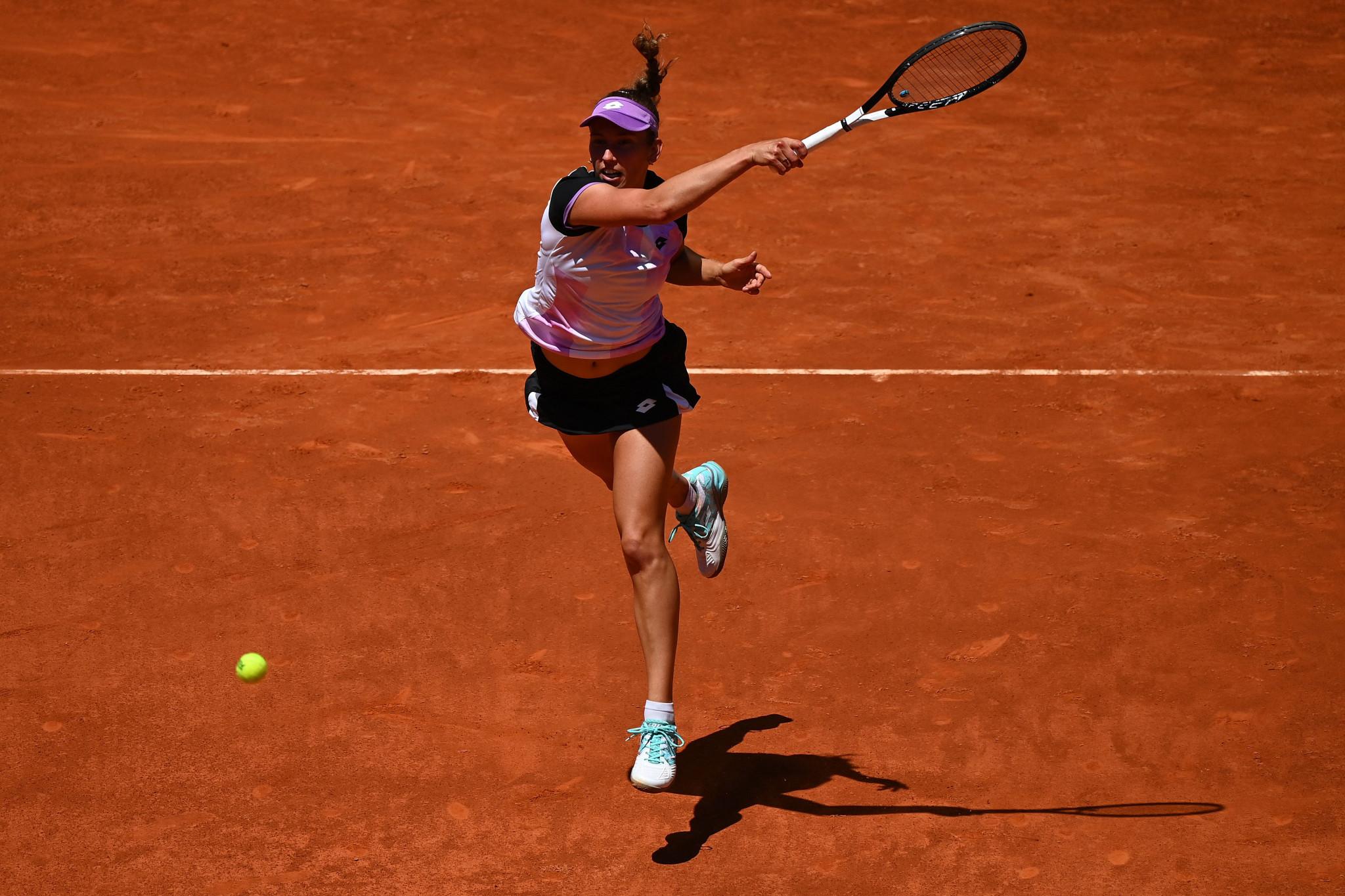 Belgium's Elise Mertens fought back to beat Simona Halep ©Getty Images