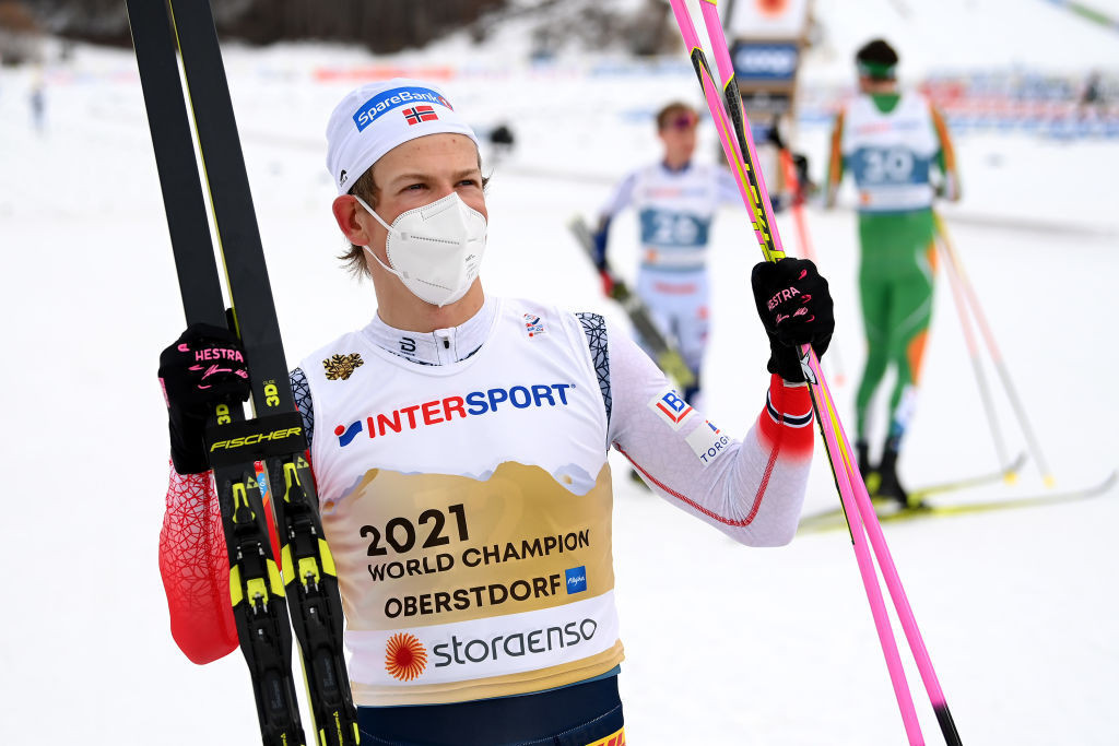 Triple Olympic gold medallist Johannes Høsflot Klæbo is the leading light in the men's elite sprint team for Norway ahead of the 2021-2022 season ©Getty Images