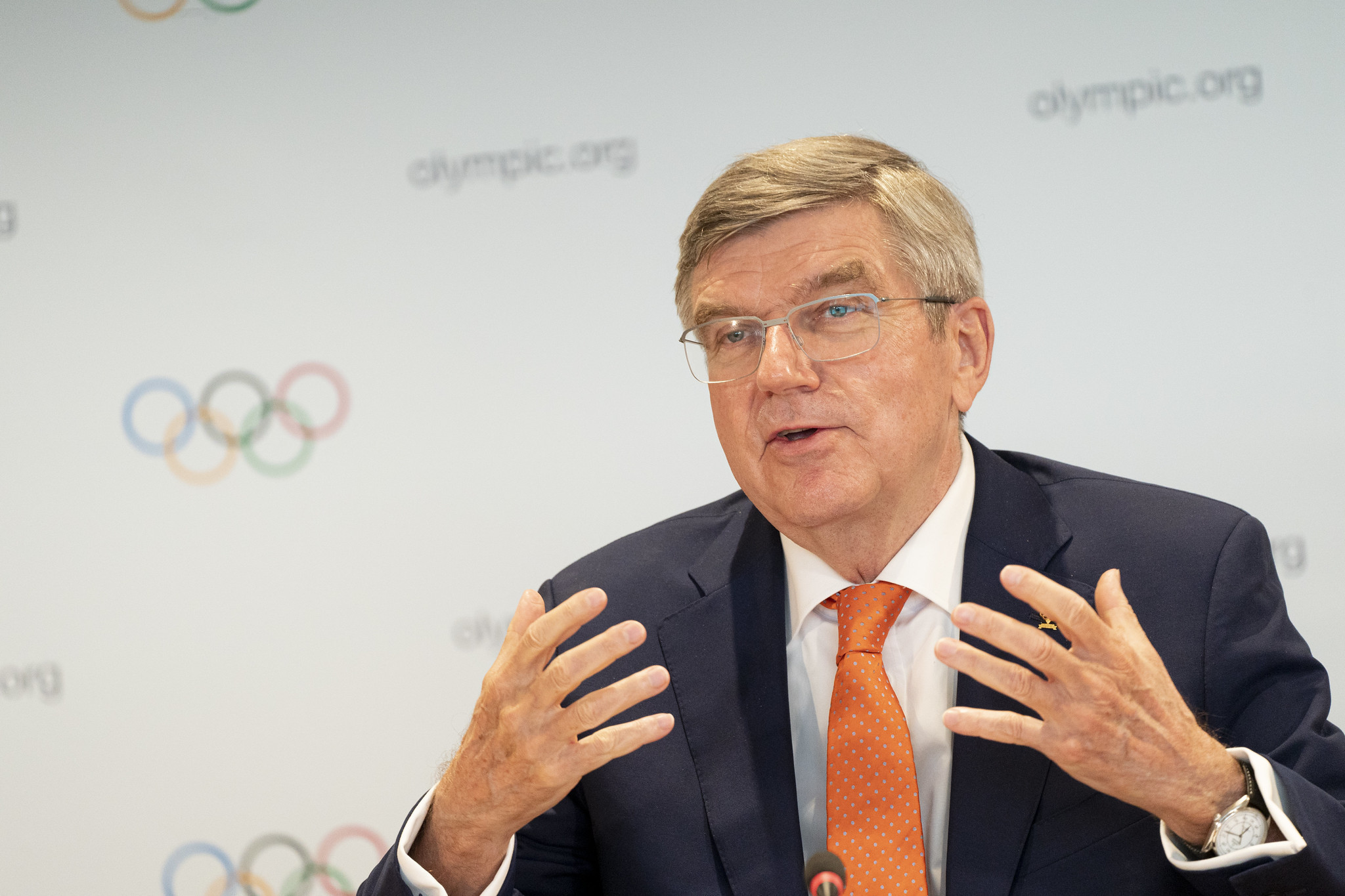 IOC President Thomas Bach pleaded for understanding from athletes affected by changes to qualification for Tokyo 2020 ©IOC