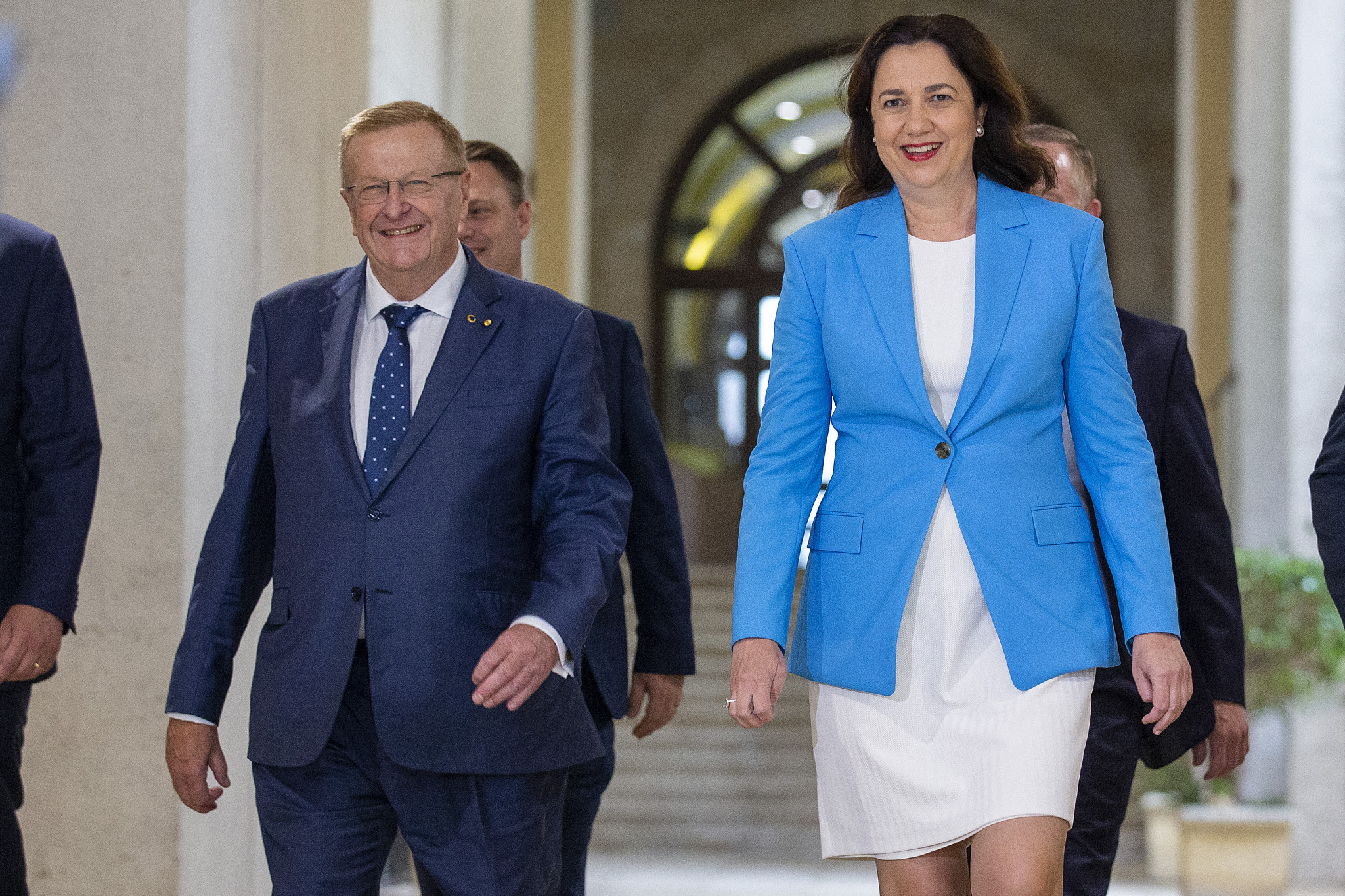 Queensland Premier Annastacia Palaszczuk, right, has submited priority guarantees to IOC President Thomas Bach ©Getty Images