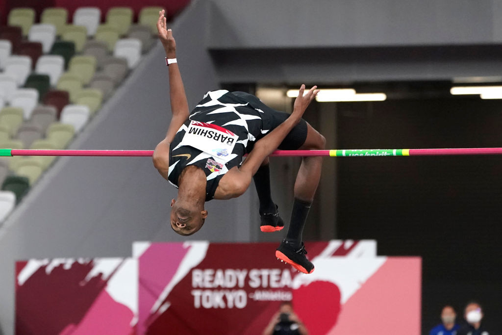 World champion Barshim shares high jump win with Tobe at Tokyo 2020 athletics test event