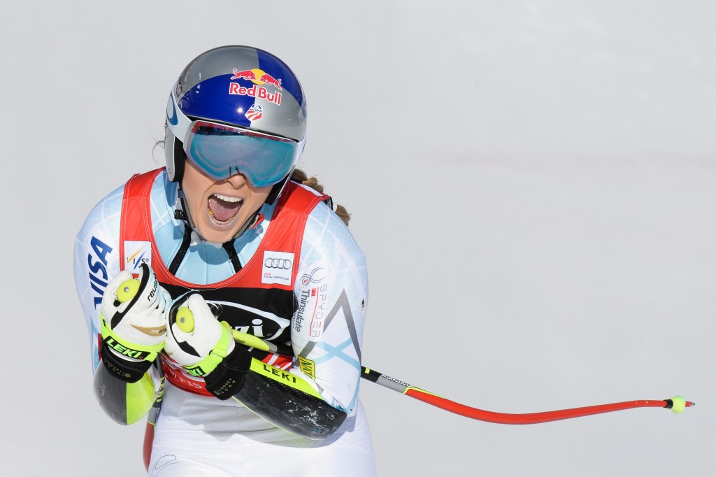 Record breaking Vonn makes it two wins out of two at Cortina d'Ampezzo