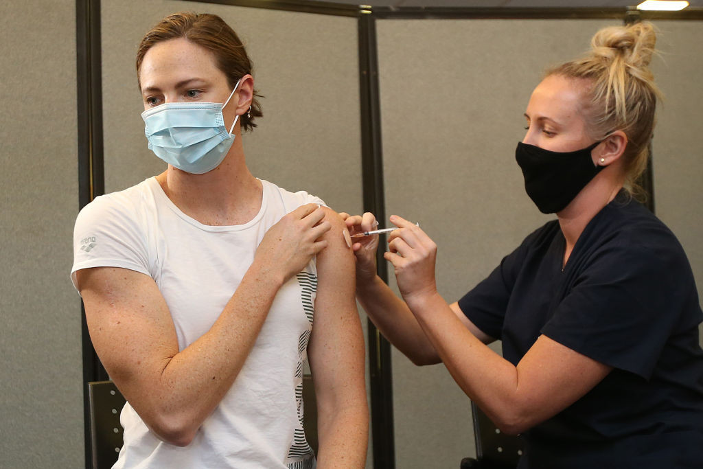 Swimmer Campbell first to get Pfizer jab as Australia starts vaccinating Tokyo-bound athletes