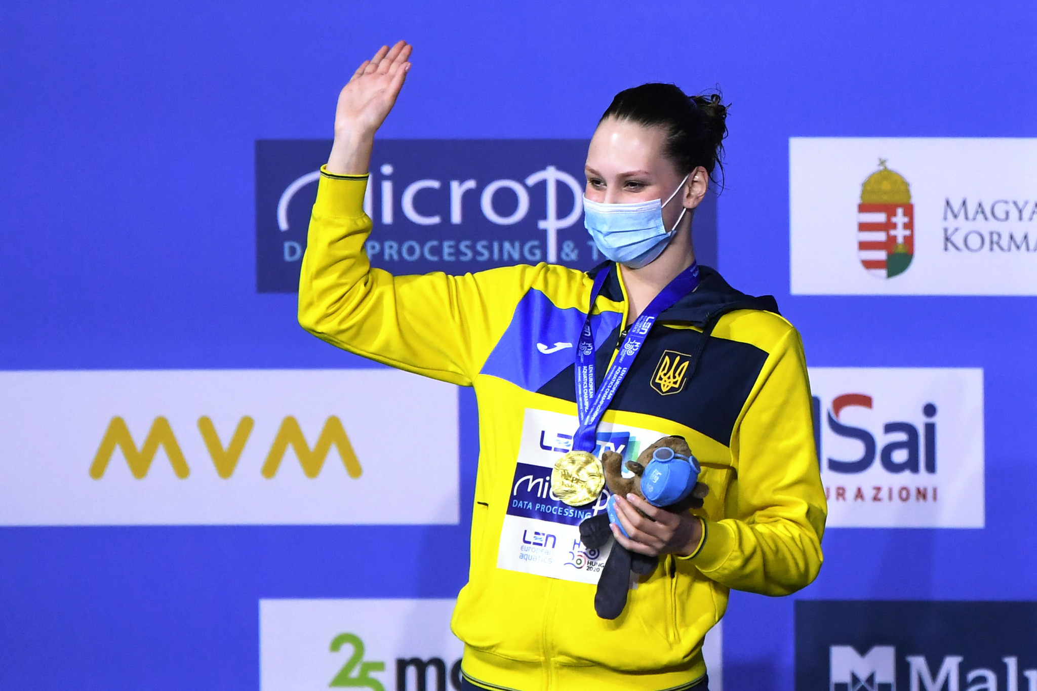 Ukraine's Marta Fiedina was victorious in the solo technical artistic swimming final  ©Getty Images