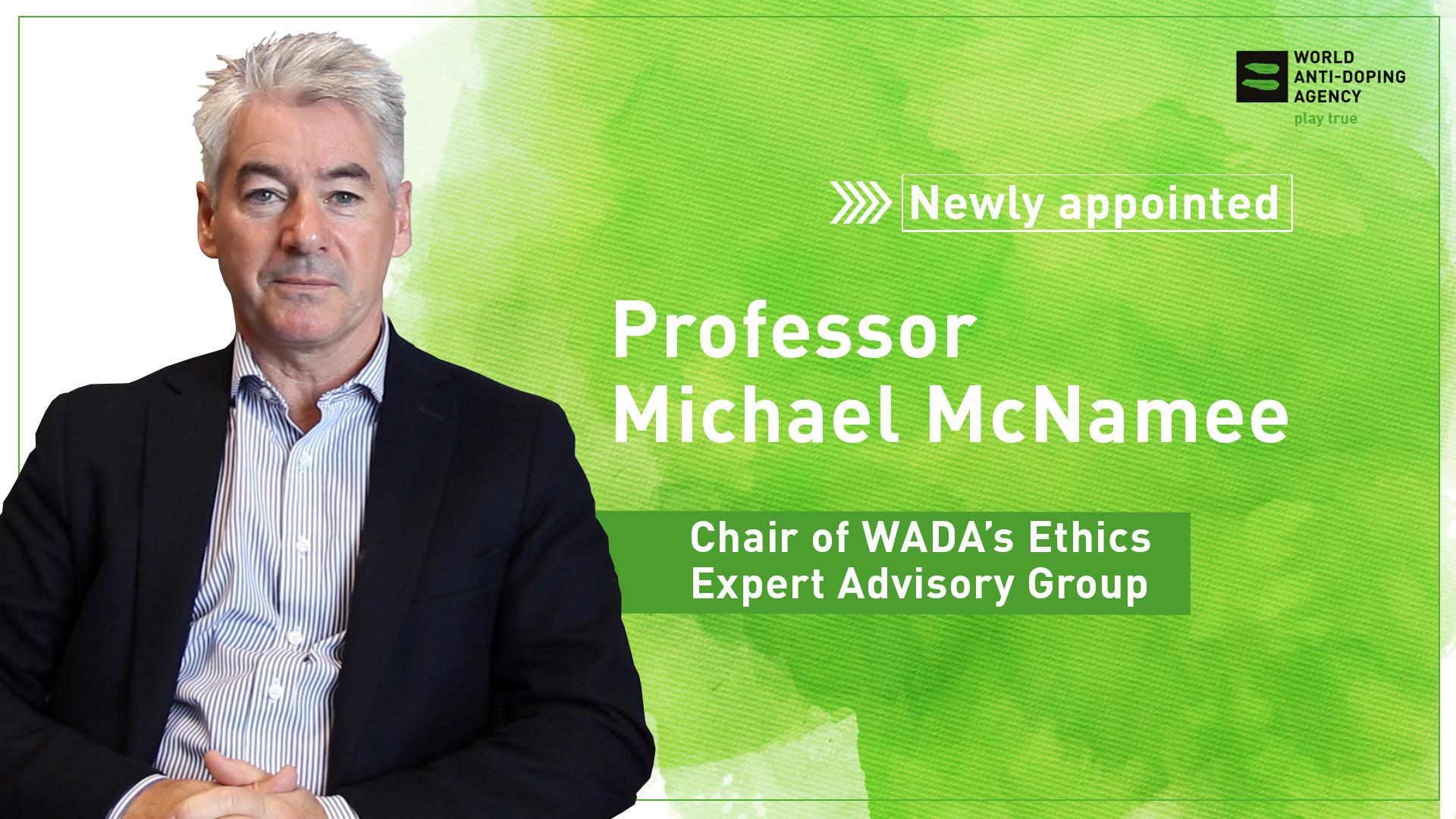 McNamee named chair of WADA Ethics Expert Advisory Group
