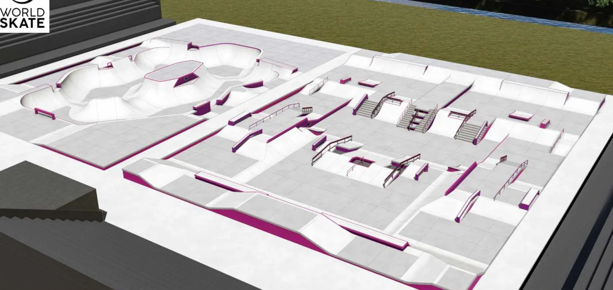 The park and street skateboarding courses for Tokyo 2020 were revealed earlier this year ©California Skateparks