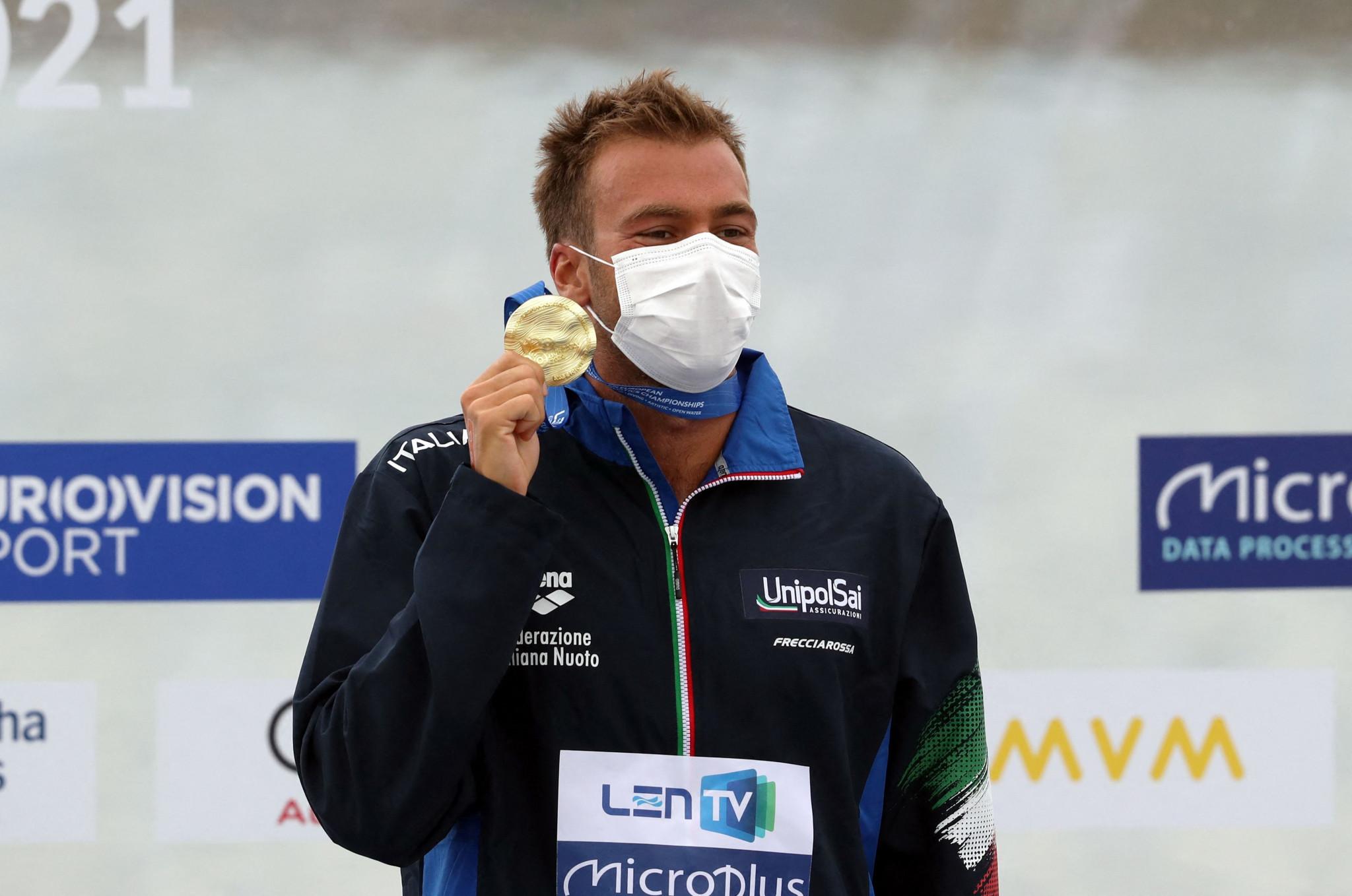 Paltrinieri leads Italian medal run at European Aquatics Championships