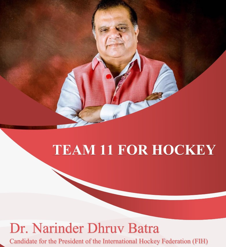 Batra unveils manifesto in bid for re-election as FIH President