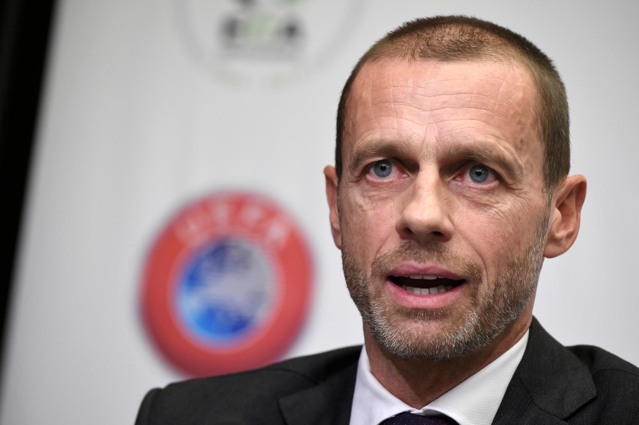 UEFA President Aleksandr Ceferin said it was