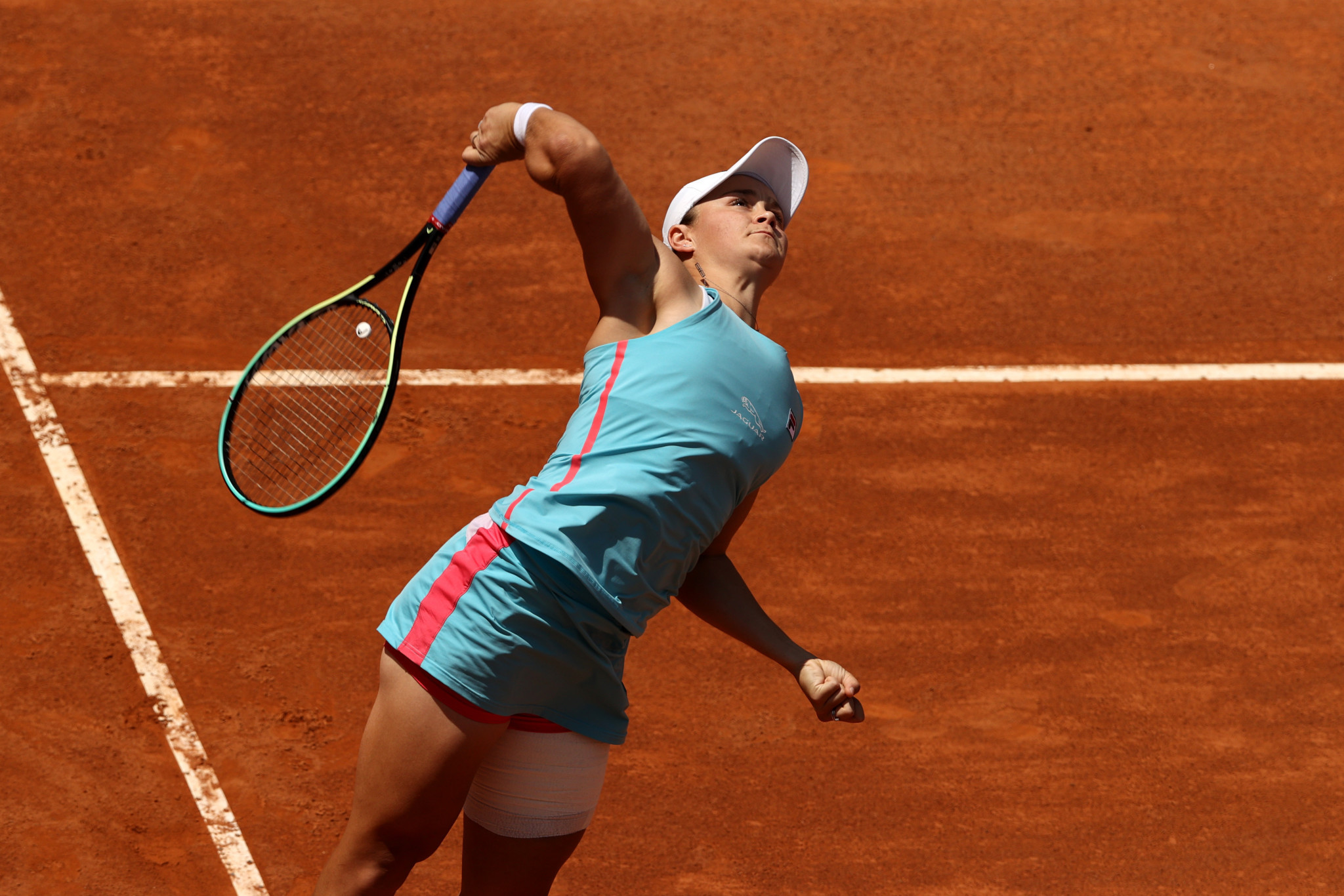 Women's top seed Ashleigh Barty of Australia reached the quarter-finals with a straight sets win in Rome ©Getty Images