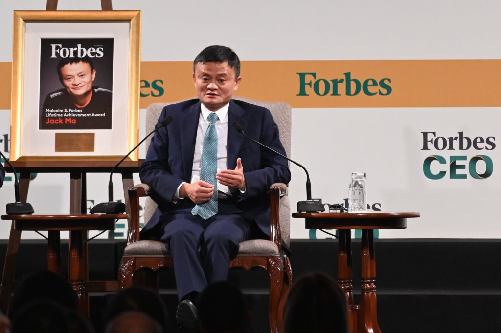 The Chinese company, led by Jack Ma, has posted its first quarterly loss since being listed in the US six years ago ©Getty Images