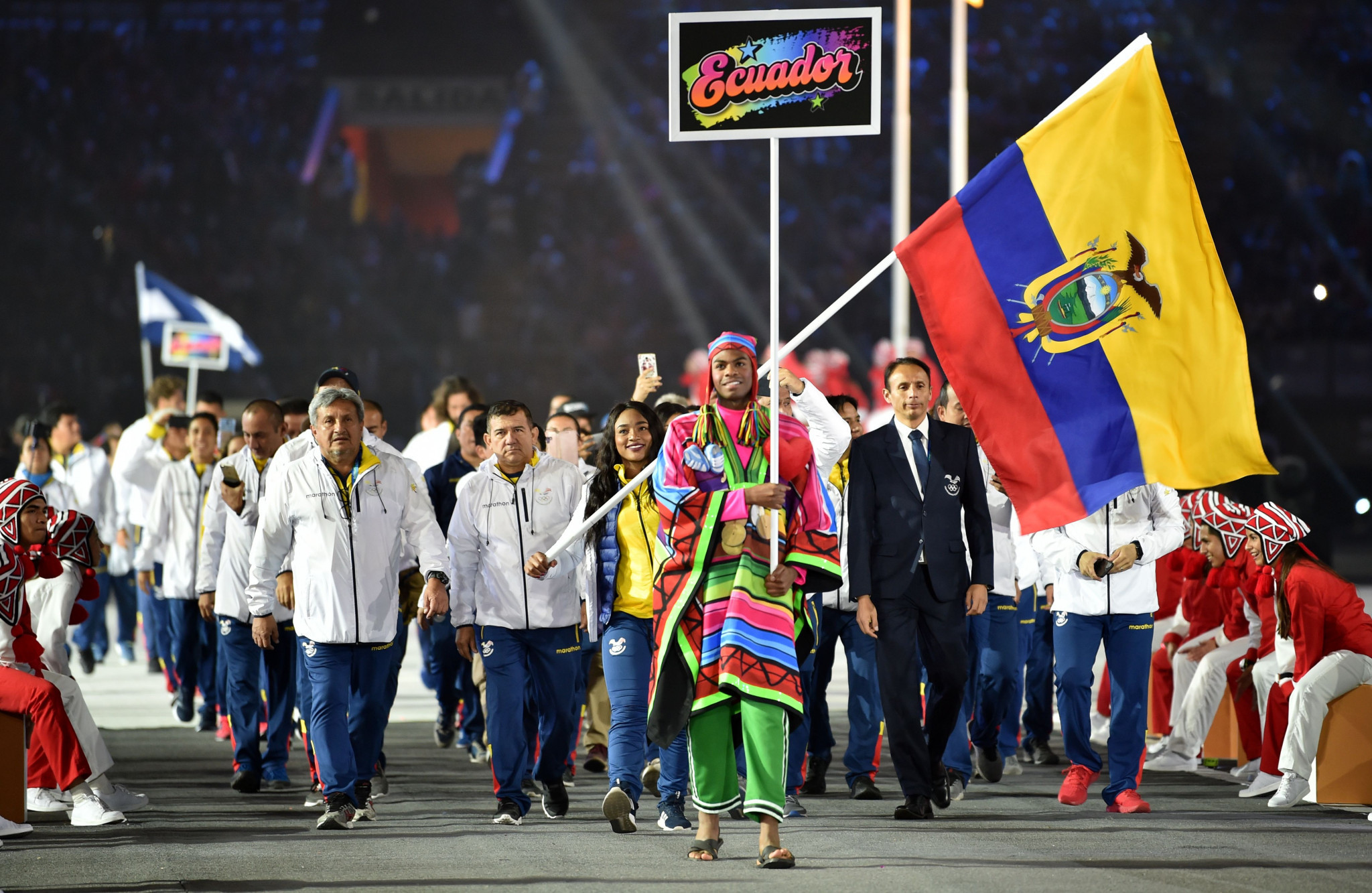 Tamara Salazar - Ecuador's flagbearer at the Liam 2019 Pan American Games Opening Ceremony - was in impressive form in Cali ©Getty Images