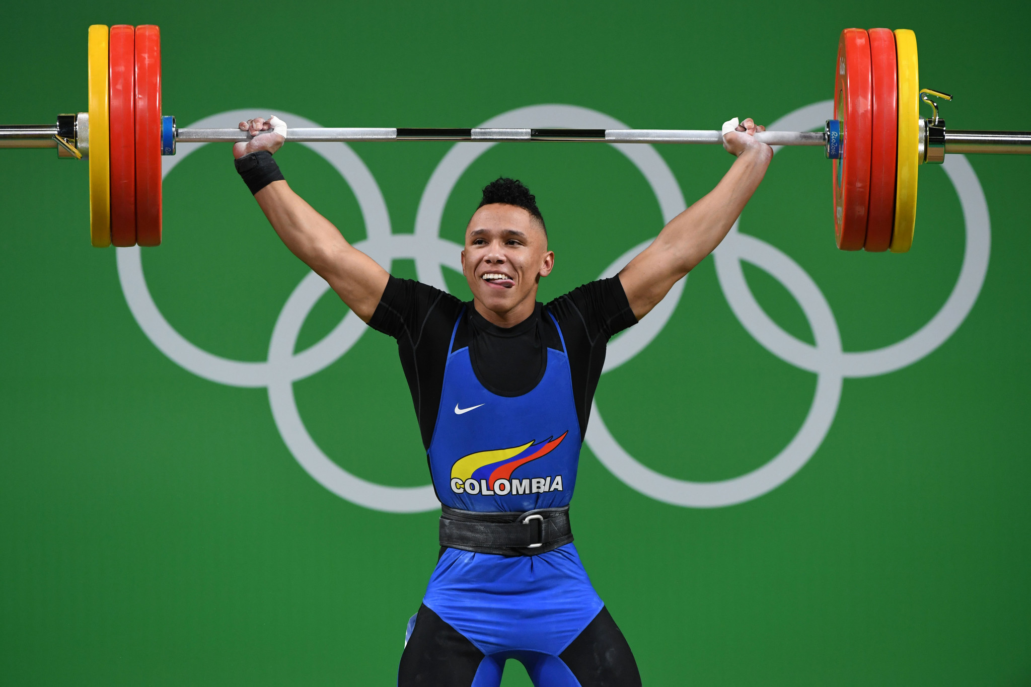 Luis Javier Mosquera was the standout weightlifter on home turf in Cali  ©Getty Images