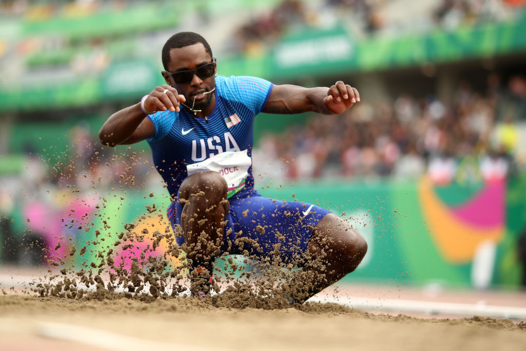 The 30-year-old American won the triple jump at Lima 2019 ©Getty Images