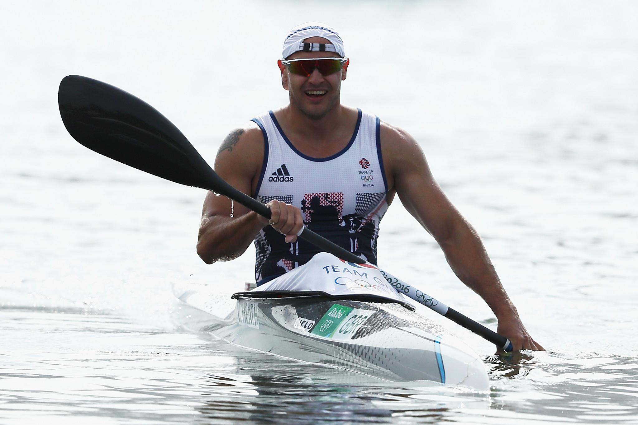 Liam Heath ganó hoy la carrera masculina de K1 200m © Getty Images