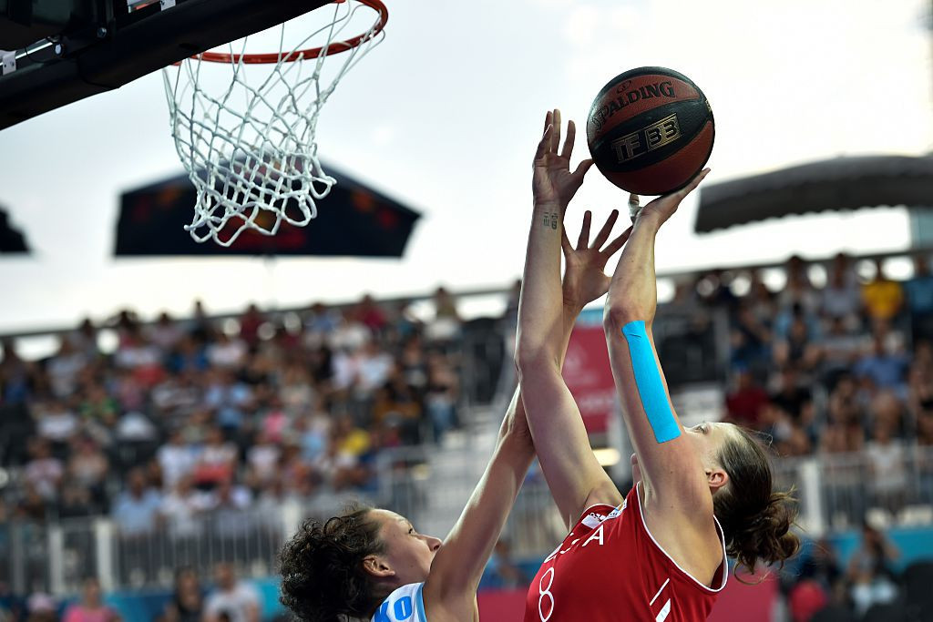 The FIBA 3x3 Women's Series resumed after a year-long hiatus in Mies today ©Getty Images