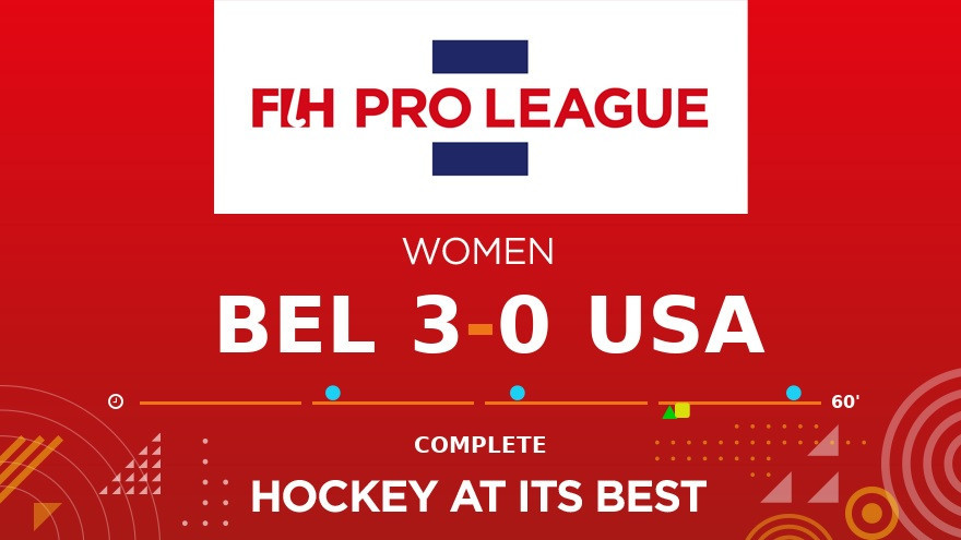 Belgium's women comfortably defeat United States as Americans make FIH Pro League return