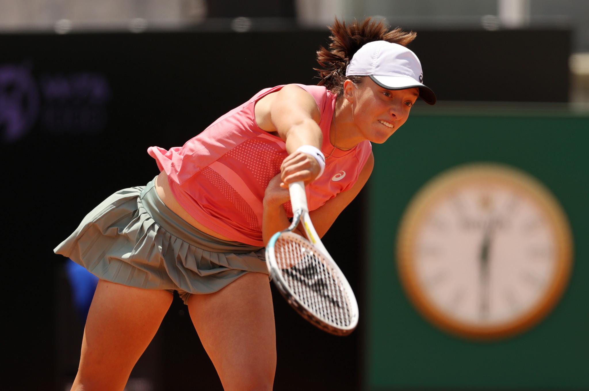 Iga Świątek of Poland reached the final of the WTA Italian Open after beating Elina Svitolina and Karolina Pliskova in Rome today ©Getty Images